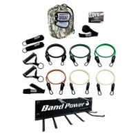 Bodylastics 15 Piece Exercise Equipment Set w/ Resistance Bands & Wall Mount - 1 unit