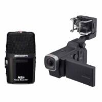 Zoom Q8 Video Professional Camera & H2N Portable 4 Track Digital Audio Recorder - 1 Piece