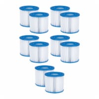 Summer Waves P57000102 Replacement Type D Pool & Spa Filter Cartridge (10 Pack) - 1 Piece