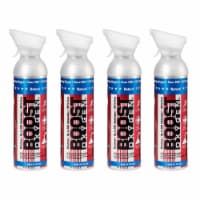 4 Pack 10L Boost Oxygen Stars and Stripes Pure Canned Oxygen Canister, Natural - 1 Piece