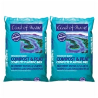 Coast of Maine Compost and Peat Organic Plant Mix, 1 Cubic Foot (2 Pack) - 1 Piece