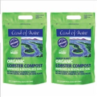 Coast of Maine OMRI Listed Quoddy Blend Lobster Compost Plant Soil, 8qt (2 Pack) - 1 Piece