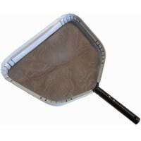 JED Pool Tools 2 Deep Leaf Rake Pool Skimmer Head Bundle w/ Nylon Cleaning Brush - 1 Piece