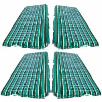 Aqua Leisure 11 Ft Inflatable Supersize Floating Platform, Stripes (4 Pack) - 1 Piece