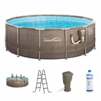 Summer Waves P20014482 14Ft x 48In Round Frame Above Ground Swimming Pool Set - 1 Piece