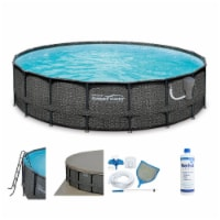Summer Waves P4A01848B Elite 18ft x 48in Above Ground Frame Swimming Pool Set - 1 Piece