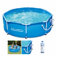 Summer Waves P2000830A 8ft x 30in Round Frame Above Ground Swimming Pool Set - 1 Piece