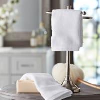Hotel Premier Collection 100% Cotton Luxury Washcloth, 2-pack, White - 1 unit