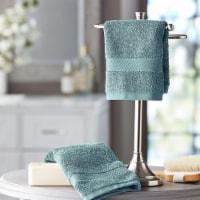 Hotel Premier Collection 100% Cotton Luxury Washcloth, 2-pack, Blue - 1 unit