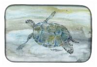 Carolines Treasures  SC2006DDM Sea Turtle Watercolor Dish Drying Mat