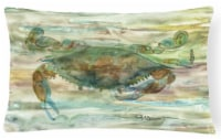 Crab a leg up Sunset Canvas Fabric Decorative Pillow