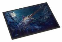 Carolines Treasures  JMA2006MAT Prince Of Darkness Swordfish Indoor or Outdoor M - 18Hx27W
