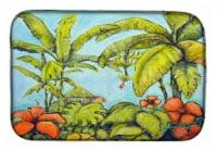 Carolines Treasures  MW1268DDM Banana Cabana Dish Drying Mat