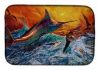 "Carolines Treasures  JMA2012DDM Reflective Chaos Blue Marlin Dish Drying Mat - 14  x 21"""