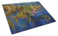 Carolines Treasures  JMA2013LCB Seaweed Salad Mahi Glass Cutting Board Large - 12Hx15W