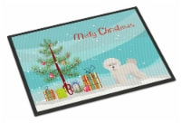 Carolines Treasures  CK3445JMAT Bichon Fris? Christmas Tree Indoor or Outdoor Ma - 24Hx36W