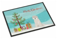 Carolines Treasures  CK3501JMAT Maltese #2 Christmas Tree Indoor or Outdoor Mat - 24Hx36W