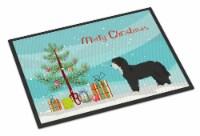 Black Sheepadoodle Christmas Tree Indoor or Outdoor Mat 24x36
