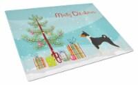 Carolines Treasures  CK3517LCB Basenji Christmas Tree Glass Cutting Board Large