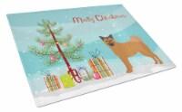 Chow Shepherd Christmas Tree Glass Cutting Board Large