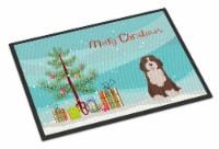 Bernedoodle #2 Christmas Tree Indoor or Outdoor Mat 18x27
