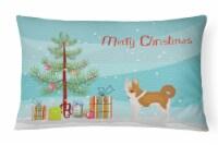 Carolines Treasures  CK3475PW1216 Nordic Spitz Christmas Tree Canvas Fabric Deco - 12Hx16W