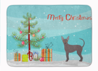 """Abyssinian or African Hairless Dog Christmas Tree Machine Washable Memory Foam M - 19 X 27"""""""