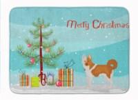 "Nordic Spitz Christmas Tree Machine Washable Memory Foam Mat - 19 X 27"""