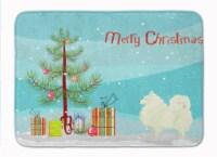 "Carolines Treasures  CK3565RUG Spitz Christmas Tree Machine Washable Memory Foam - 19 X 27"""