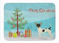 Toy Fox Terrier Christmas Tree Machine Washable Memory Foam Mat