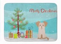 "Carolines Treasures  CK3889RUG Morkie #3 Christmas Tree Machine Washable Memory - 19 X 27"""