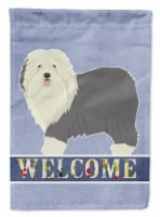 Old English Sheepdog Welcome Flag Canvas House Size