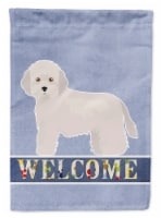 Carolines Treasures  CK3641CHF Cyprus Poodle Welcome Flag Canvas House Size
