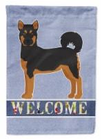 Akita Shepherd Black and Tan Welcome Flag Canvas House Size