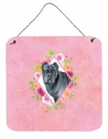 Cane Corso Pink Flowers Wall or Door Hanging Prints