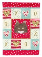 Carolines Treasures  CK5137CHF Norwegian Forest Cat Love Flag Canvas House Size