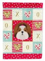 Carolines Treasures  CK5206CHF Imperial Shih Tzu Love Flag Canvas House Size - House Size