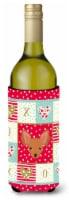 Carolines Treasures  CK5234LITERK Russian Tor Terrier Love Wine Bottle Hugger - 750 ml