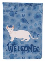 Carolines Treasures  CK4878CHF Dwelf #3 Cat Welcome Flag Canvas House Size