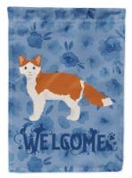 Carolines Treasures  CK4909CHF La Perm #2 Cat Welcome Flag Canvas House Size