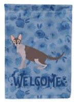 Carolines Treasures  CK4912CHF Lykoi #2 Cat Welcome Flag Canvas House Size