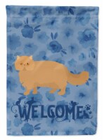 Carolines Treasures  CK4944CHF Persian Modern Cat Welcome Flag Canvas House Size