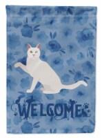 Carolines Treasures  CK5038GF Khao Manee Cat Welcome Flag Garden Size - Garden Size