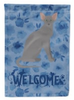 Oriental Shorthair Cat Welcome Flag Canvas House Size