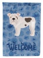 Carolines Treasures  CK5987GF English Bulldog #2 Welcome Flag Garden Size