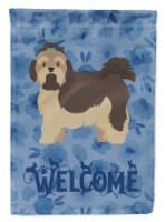 Carolines Treasures  CK6044GF Russian Lapdog Welcome Flag Garden Size