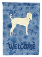 Carolines Treasures  CK6058CHF Afghan Hound Welcome Flag Canvas House Size