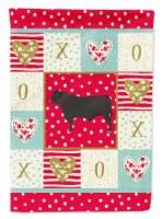 Carolines Treasures  CK5255CHF Black Angus Cow Love Flag Canvas House Size - House Size