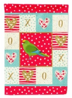 Carolines Treasures  CK5524CHF New Zealand Parakeet Love Flag Canvas House Size - House Size