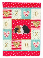 Carolines Treasures  CK5426CHF Abyssinian Guinea Pig Love Flag Canvas House Size - House Size